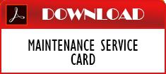 Maintenance Service Card